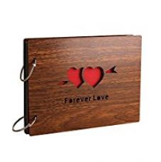 Buy Sehaz Artworks 'ForeverLove' Wood Pasted Photo Album (22 cm x 16 cm x 4 cm, Brown) from Amazon