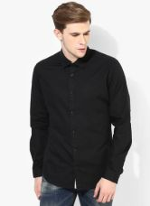 United Colors of Benetton Black Regular Fit Casual Shirt for Rs. 1170