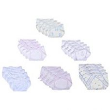 First Kids Step Newborn Hosiery cotton cloth nappies pack of 24pcs (multi)(0-3months) for Rs. 499