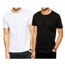 Buy Pack of 2 DryFit polyester T-shirt Round Neck - White and Black for Rs. 199