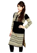 Buy The Style Story Black Printed Designer Kurti for Rs. 449