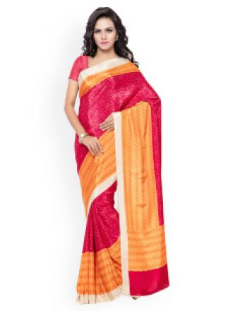 eb6e971fa Buy Satin Printed Saree from Myntra - Dealplatter.com