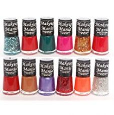 Buy Makeup Mania Exclusive Nail Polish Set of 12 Pcs (Multicolor Set # 76) from Amazon