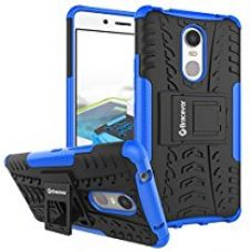 Buy Bracevor Shockproof Lenovo k6 note Hybrid Kickstand Back Case Defender Cover - Blue from Amazon