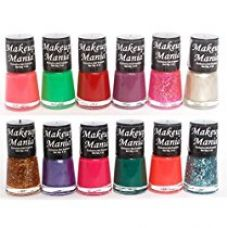 Makeup Mania Exclusive Nail Polish Set of 12 Pcs (Multicolor Set # 78) for Rs. 295