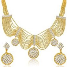 Buy YouBella Gold Plated Necklace Jewellery set with Earrings For Girls/Women from Amazon