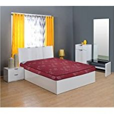 Buy @home by Nilkamal Dream 4-inch Double Size Coir Mattress (Maroon, 78x48x4) from Amazon