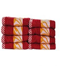 Buy Trident 425 GSM Floral Collection Face Towels, 8 Pcs pack, Red & Yellow (Baby wash cloths) from Amazon