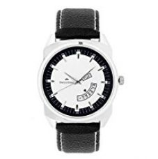 Buy Swisstone White Dial Black Leather Strap Analog Watch for Men/Boys- ST-GR011-WHT-BLK from Amazon