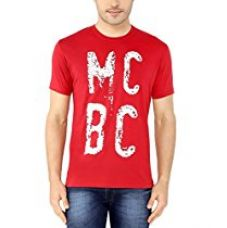 Buy Ketto Men's Graphic Crew Neck T-shirt - Red (Ketto-M001-Red-XL) from Amazon