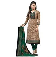 Buy Rajnandini Women's Cotton Printed Dress Material( JOPLMFC1114_Green_Free Size) from Amazon