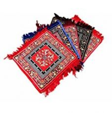 Kuber Industries™ Red Pooja Aasan, Mat Set of 4 Pcs (2 Ft X 2 Ft) for Rs. 539