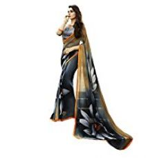 Izonme Georgette Saree (Inm0010_Grey) for Rs. 839