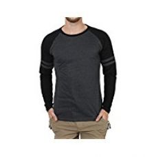 Buy SayItLoud Solid Men's Round Neck T Shirt (33SOLIDGREYNAVY-XL_Grey, Navy_X-Large) from Amazon