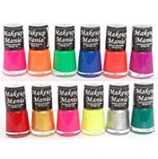 Buy Makeup Mania Daily Wear Nail Polish Combo in 12 Classy Nail Enamel Shades - Green, Blue, Silver, Golden, Pink, Magenta, Red & Many More in Combo of 12 Pcs (Multicolor Set # 74) from Amazon