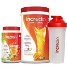 Buy Incredio Meal Replacement Shake, Mango (500g) and Refresh Tea, Honey Lemon (200g) and  a free shaker from Amazon