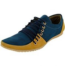 Buy Esense Men's Blue And Beige Synthetic Casual Shoes-6 from Amazon