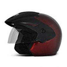 Buy Vega Cruiser CR-W/P-B-M Open Face Helmet (Burgundy, M) from Amazon