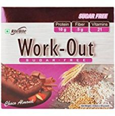 Rite Bite Work Out Sugar Free Energy Bar - 50 g (Choco Almond, Pack of 6) for Rs. 306