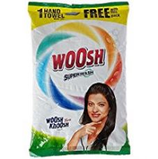 Buy Woosh Super Detergent Powder - 1 kg with Free Hand Towel - 1 Piece from Amazon