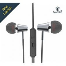 Tantra Trumpet T-600 Premium Wired Super Bass In-ear Earphones with Noise Reduction and Mic - Metal Grey for Rs. 749