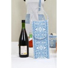 Buy Blue  Block Print Bottle Cover - Blue from Hopscotch