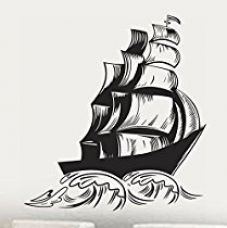 Buy Decals Design 'Sailors Ship' Wall Sticker (PVC Vinyl, 70 cm x 50 cm, Black) from Amazon