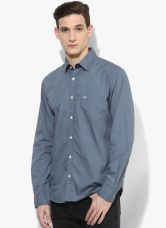Buy Park Avenue Blue Solid Slim Fit Casual Shirt from Jabong