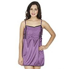 Buy Klamotten Women's Nightdress (X98_Prpl_Purple_Free Size) from Amazon