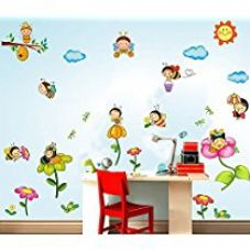 Buy Decals Design ' Kindergarten Bee Paradise' Wall Sticker (PVC Vinyl, 60 cm x 90 cm) from Amazon