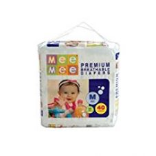 Mee Mee Premium Medium Size Diapers (40 Count) for Rs. 450