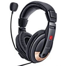 Buy iBall RK25 Multimedia Headphones with Mic (Black) from Amazon