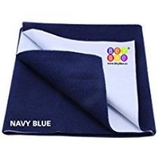Bey Bee - Quick Dry Baby Bed Protector Waterproof Sheet (Dark Blue) {Medium} {Size: 100cm X 70cm} for Rs. 315