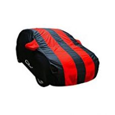 Autofurnish Stylish Red Stripe Car Body Cover For Tata Tiago - Arc Blue for Rs. 919