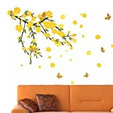 Buy Decals Design 'Mind Blowing Flowers' Wall Sticker (PVC Vinyl, 70 cm x 50 cm, Black) from Amazon
