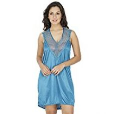 Buy Klamotten Women's Nightdress (X155_Trq_Turquoise_Free Size) from Amazon