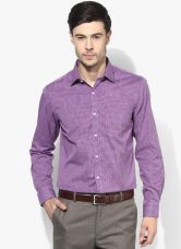 Flat 30% off on Arrow Purple Checked Slim Fit Formal Shirt