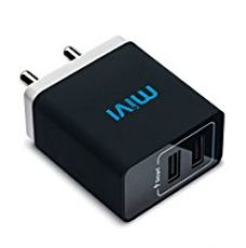 Buy Mivi 3.1A Dual Port Smart Wall Charger Adapter - Black from Amazon