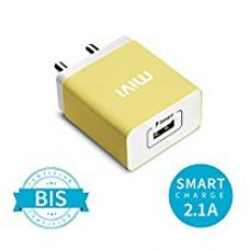 Buy Mivi Smart Charge 2.1A Wall Charger for All Devices (Yellow) from Amazon