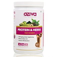 Buy OZiva Protein & Herbs Women, Whey Protein Powder With Ayurvedic Herbs (Chocolate, 1kg /34 Servings) from Amazon