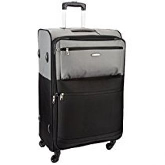 Buy Aristocrat Evoque Polyester 54 cms Black Soft Sided Suitcase (STEVOW55BLK) from Amazon