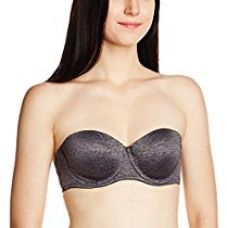 Buy Amante Seamless Bra (BRA26001_Anthracite and Ash_32B) from Amazon