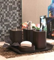 Get 15% off on Foyer Wood Bathroom Set - Set of 4
