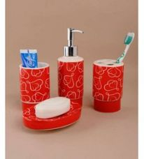 Buy Go Hooked Stainless Steel Bathroom Set - Set of 4 for Rs. 651