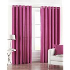 Buy PINDIA Eyelet Polyester Long Door Curtain - 8ft, Pink from Amazon