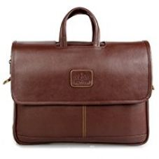Buy The Clownfish Signature Series Brown 15.6 inch Laptop and Tablet Briefcase, Shoulder Laptop Bag from Amazon