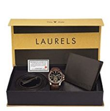 Buy Laurels analogue black Dial Men's Watch from Amazon