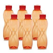 Buy Cello Twisty PET Bottle Set, 1000ml, Set of 6 orange from Amazon