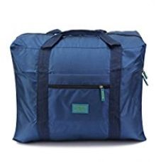 Buy Cairo Blue Travel Folding Carry On Luggage Bag from Amazon