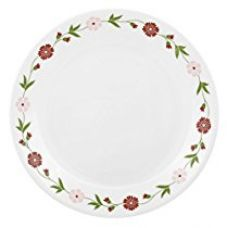 Buy Corelle Livingware Spring Pink Vitrelle Glass Dinner Set, 21-Pieces, Multicolor from Amazon